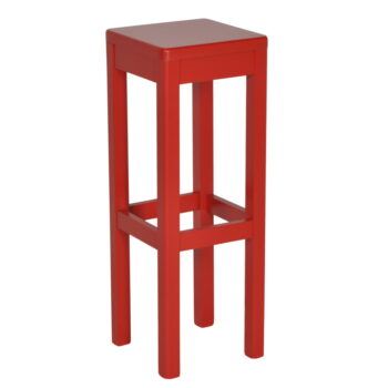 Barkruk Arie rood hout zithoogte 80cm